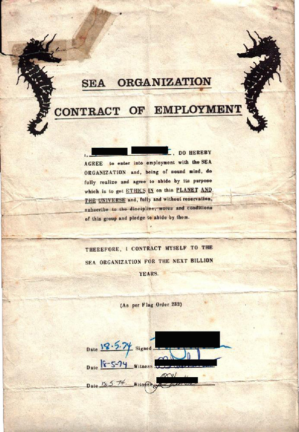 Sea Org Contract