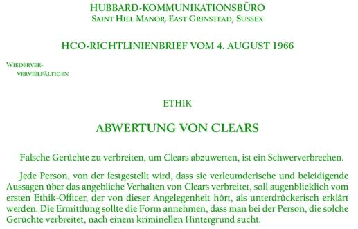 HCOPL Abwertung von Clears 1